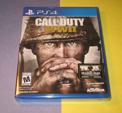 Call of Duty: WWII (Sony PlayStation 4, 2017) NEW FACTORY SEALED Y-FOLD PS4