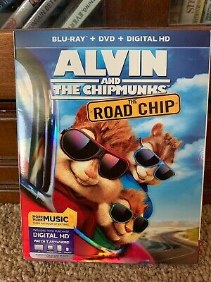 Alvin and the Chipmunks: The Road Chip (Blu-ray/DVD, 2016, 2-Disc Set, Includes
