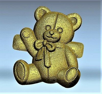 Teddy bear 2 relief 3d model relief for cnc in STL file format kids