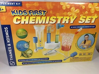 cdbcbfcf5 THAMES & KOSMOS Kids Toy First Chemistry Set, Learning Science Kit ...