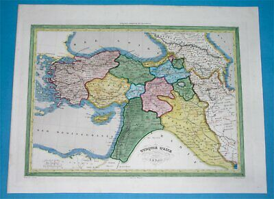 1840 ANTIQUE MAP Middle East Armenia Syria Palestine Turkey Cyprus ...