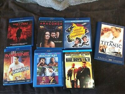 Blu-ray disc GREAT LOT BAD BOYS DEAD POOL 2 TITANIC FAST 5 THE RAVEN AND MORE!