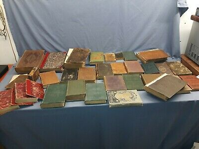 LOT Of 31 Old ANTIQUE DISTRESSED BOOKS 1815-1897 with some 1st Editions