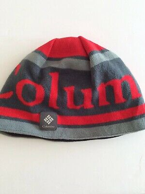 ac6eaccf2bcd1 Columbia Unisex Gray Red Mens Womens Beannie Omniheat One Size Winter Hat