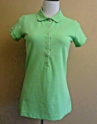 af906f8e NWT Lilly Pulitzer Sweetie Polo Seagrass Green Golf Polo Shirt Top in size M