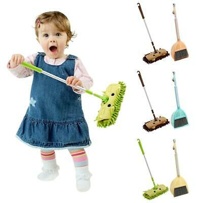 SET OF 3PC Kids Housekeeping Cleaning Tool Small Mop Small