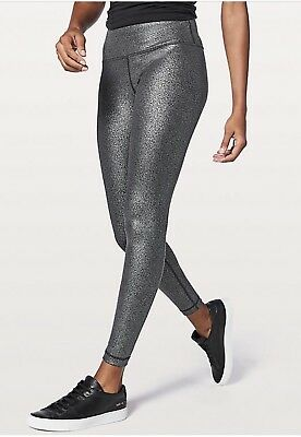 e87647ad62 SOLD OUT NWT LULULEMON Silver Foil Speed Up Tight Full-On Luxtreme 28
