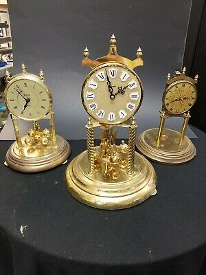 Set Of 3 Anniversary Clocks Without Glass Domes