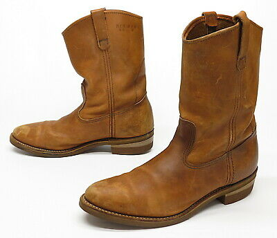 140dfe68dda VTG MEN'S BROWN RED WING PECOS Leather MOTORCYCLE Cowboy Boots Size 12 USA  made