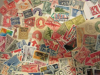 VINTAGE USA postage stamp lot ALL DIFFERENT BACK OF BOOK NICE with FREE SHIPPING