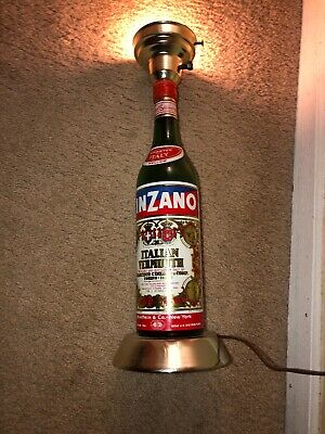 Cinzano Italian Vermouth Bottle Lamp