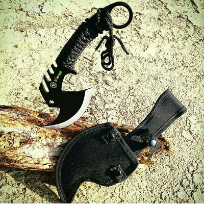 """11"""" Full Tang Fire Axe Outdoor Hunting Camping Survival Steel Hatchet Knife"""