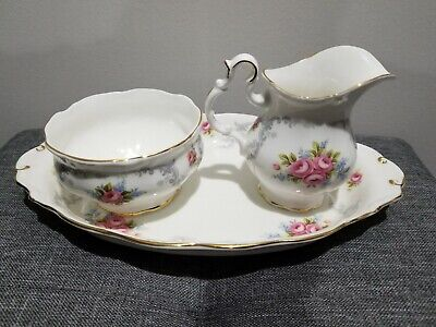 Royal albert tranquillity Sugar And Creamer Set with tray