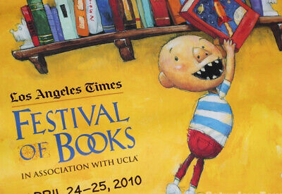 """Author David Shannon Signed Poster """"David Goes to School"""" LA Book Fair UCLA 2010"""