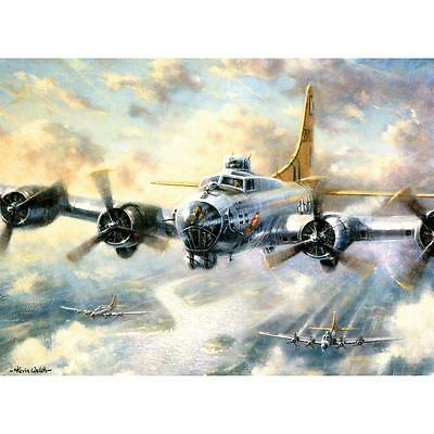 """FLYING FORTRESS Paint By Number Kit 15.75"""" x 11.25"""" Airplane Aircraft Plane"""