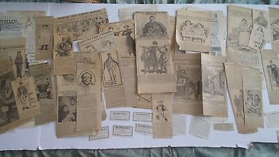 Antique NEWSPAPER CLIPPINGS Oddities Strange & More Very Neat Group