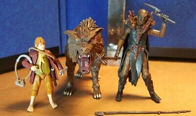 FINBUL THE HUNTER ORC AND WARG THE HOBBIT 3.75 INCH ACTION FIGURE BEAST PACK