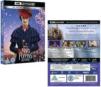 MARY POPPINS RETURNS (2019): Comedy, Family, Fantasy, Sequel RgFree 4K + BLU-RAY