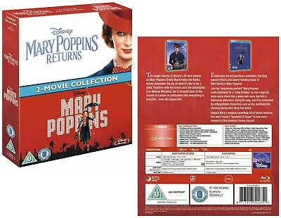 MARY POPPINS (1964) + MARY POPPINS RETURNS (2019) DOUBLE - Sequel RgFree BLU-RAY