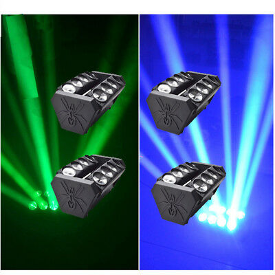 Lot4 80W RGBW LED Spider Moving Head Lights Stage Lighting DJ Party DMX512 US