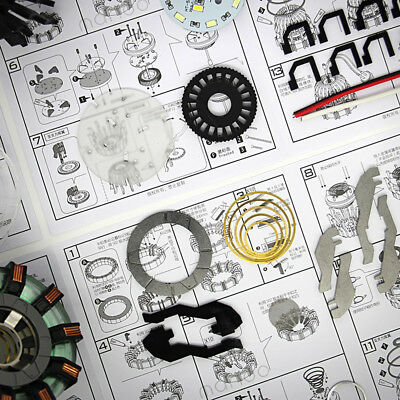 DIY Master Grade Iron Man MK1 USB Remote Arc Reactor Display Box Stand Case