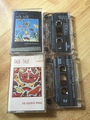 X 2 TALK TALK  Cassette Albums- The Colour Of Spring / Natural History