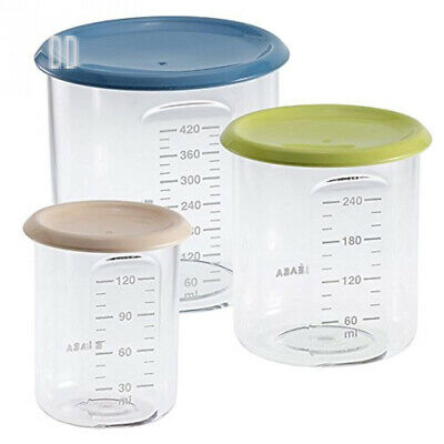 BEABA Baby/Maxi/Maxi Plus Food Storage (Pack of 3)