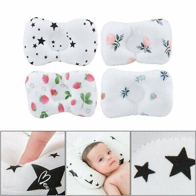 Newborn Baby Cot Pillow Prevent Flat Head Positione Cushion Sleeping Support E3
