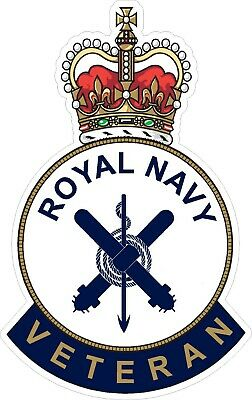 Royal Navy Sonar Veteran Sticker Uk - Cars - Vans - Laptops