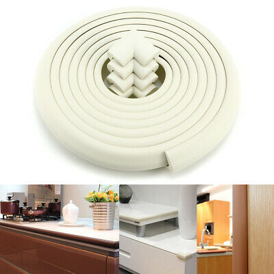 White Baby Cushion Protector Soft Table Edge Roll 5m +4pcs Corner Cover