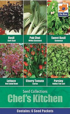 Chef's Kitchen Seeds Vegetables Basil Pak Choi Lettuce Tomatoes