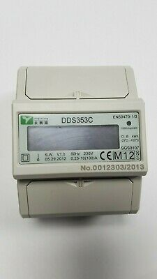 100A Electrical Reading Meter High Precision Single Phase kWh DDS353C Meter Read