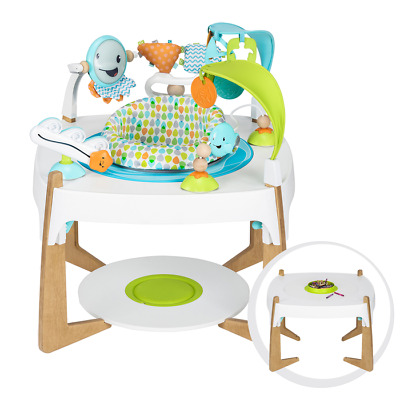 Evenflo ExerSaucer 2-in-1 Activity Center + Art Table  Gleeful Sea NEW Made 2018