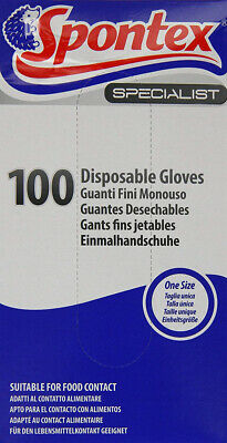 Spontex Specialist Disposable Gloves (Pack of 100)