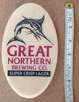 Great Northern Oval Beer Tap Badge, Decal, Top