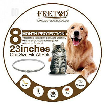 FRETOD Flea and Tick Collars for Dogs Cats – 8 Month Protection –Adjustable...