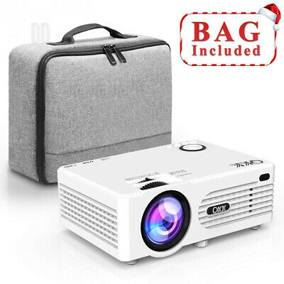 QKK Projector, Mini 3500 Lux Projector with Carry Bag, Video Supports 1080P...