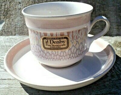Denby Chantilly Stoneware Tea Coffee Cup & Saucer Made In England Brand New