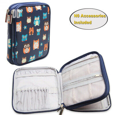 Teamoy Crochet Hook Case, Storage Bag for Various Needles and Accessories,...