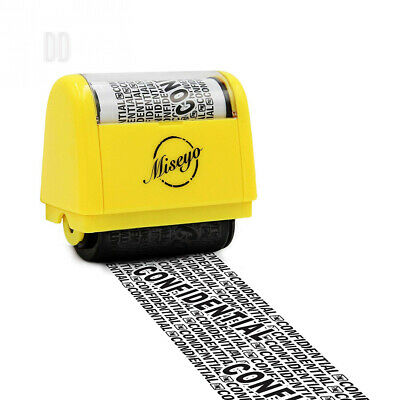 Miseyo Wide Roller Stamp Identity Theft 1.5 Inch Perfect for Privacy...