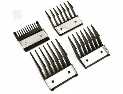 Professional Line 4 Attachment Comb Set With Metal Backed Cutting Guide 3mm,...