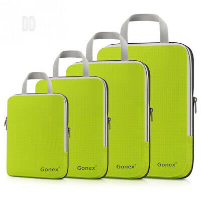 Gonex Compression Packing Cubes Extensible Organizer Bags for 4 Packs, Green