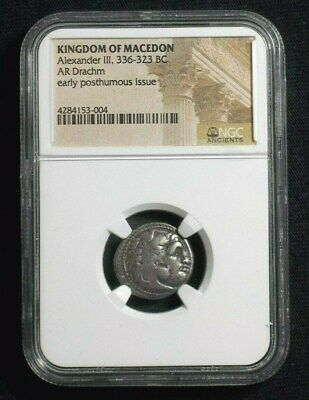 Greek Silver Drachm of Alexander III the Great, 336-323 BC  NGC Certified 3004
