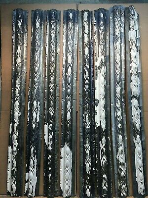 "8 pc Lot of 48"" by 4"" Antique Ceiling Tin Vintage Reclaimed Salvage Art Craft"