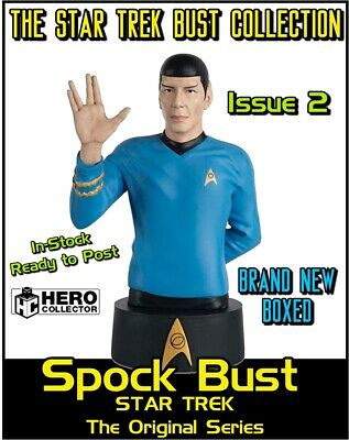 Eaglemoss Star Trek Collectors Busts: Spock Bust Issue 2 (Magazine + Figure) New