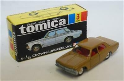 Tomy Tomica-03, Toyota Crown Super Deluxe, Tan, Red Int Aa352