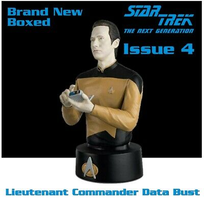 Eaglemoss Star Trek Collectors Busts: Lt Cmdr Data Issue 4 (Mag + Figure) New