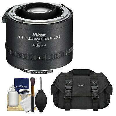 Nikon TC-20E III 2x AF-S Teleconverter Tele Converter with Bag & Cleaning Kit