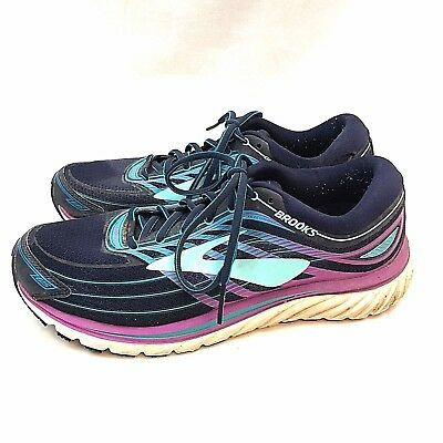 87a57a48bf44 Brooks Glycerin 15 Womens Athletic Running Shoes US 11 Wide Blue Purple  Lace Up
