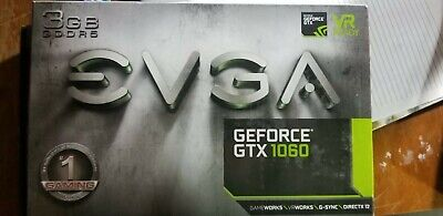 EVGA GeForce GTX 1060 3GB Gaming Video Card, Gaming, VR
